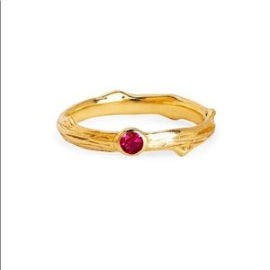 LOGAN HOLLOWELL ROSE THORN RUBY RING